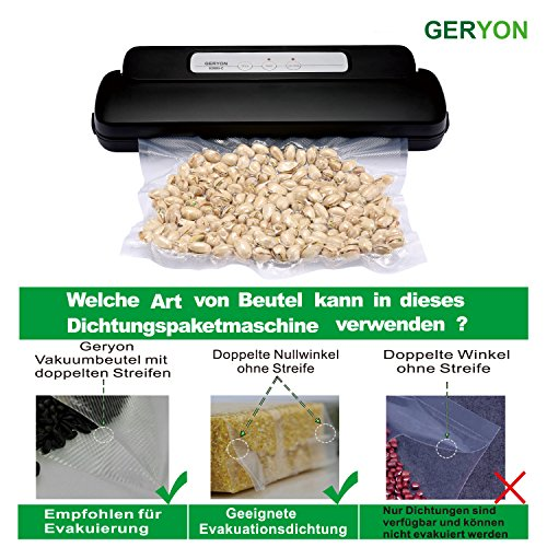 GERYON E2800-c Vakuumiergerät, Compact Automatische Folienschweißgeräte Vakuumierer für Lebensmittel Sparer Sous Vide, Enthalten Vakuumbeutel & Rollen - 3