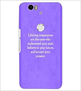 PrintDhaba Quote D-2927 Back Case Cover for HUAWEI NEXUS 6P (Multi-Coloured)