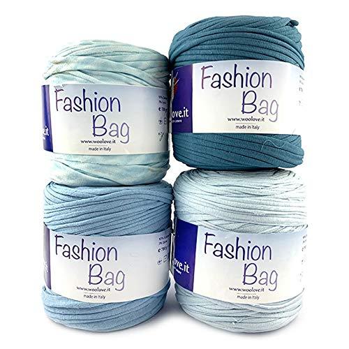 Woolove promozione 4 pezzi di fettuccia in cotone da lavorare ad uncinetto ideale per creare cestini,borse e molto altro ancora!