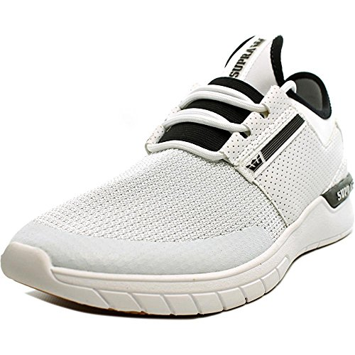 Supra Flow Run, chaussons d'intérieur homme White-White