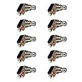 Mintice 10 Stück Stampfen Elektrische Gitarre Effektpedalkasten Momentaner Druckknopf stampfen Fußschalter