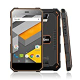 NOMU S10 5,0 Zoll Smartphone Android 6.0 4G Dual SIM Ohne Vertrag MTK6737 1.5GHz Quad Core 1.5GHz 2GB RAM 16GB ROM IP68 Wasserdichtes Staubdichtes 5000mAh Outdoor Handy (Orange)