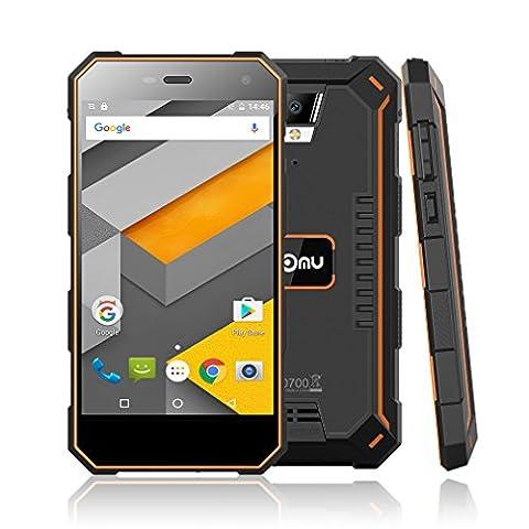 NOMU S10 5,0 Zoll Smartphone Android 6.0 4G Dual SIM Ohne Vertrag MTK6737 1.5GHz Quad Core 1.5GHz 2GB RAM 16GB ROM IP68 Wasserdichtes Staubdichtes 5000mAh Outdoor Handy (Sim Ohne Vertrag)
