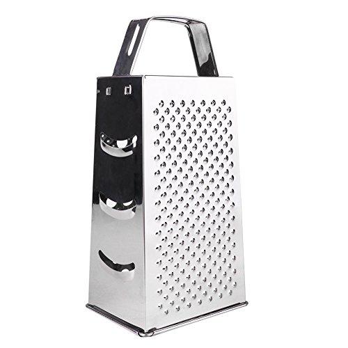 Vierkantreibe, Goodshop Kartoffelreibe Gurkenhobel Vierkantreibe mit Auffangbehälter, 4 Schneid-/Reibeflächen, Edelstahl Rostfrei Spülmaschinengeeignet (Feste Schrubben)