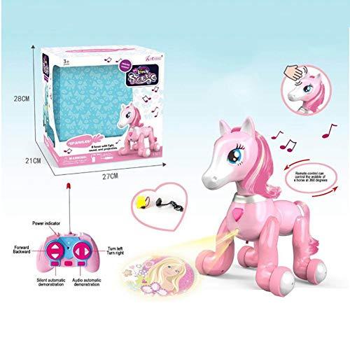 Neckip Pony-Spielzeug projektion spielzeug-Fernsteuerungs pony mit hellem Musiknoten sensor-Puzzle neue roboter spielfern steuerungs spielzeug elektronische haustier pädagogisches spielzeug für Kinder