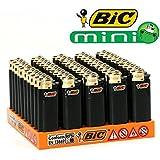50 briquets bic mini à pierre gold