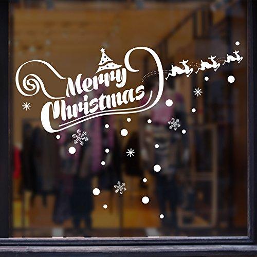 JinTie Neues Jahr abnehmbare Wall Sticker 994 Weihnachten banner Geschäften Fenster aus Glas, Dekor, Klebefolie/Tape ist ähnlich wie die der König (Neue Jahr Banner)