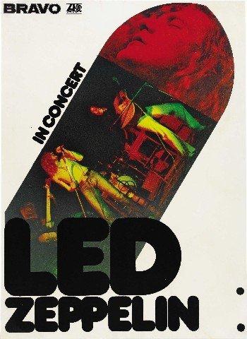 LED ZEPPELIN Riproduzione Concerto Promo Poster 40,6x 30,5cm
