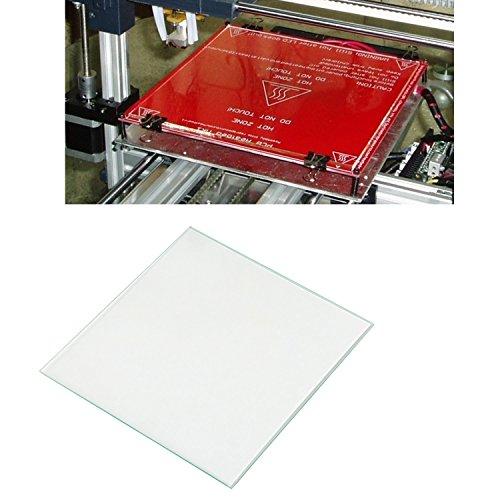 LEADSTAR Imprimante 3D Panneau Verre en verre plateau en verre Cible de lit chauffant Impression Lit Verre Verre Borosilicate pour Heatbed MK2 MK3, 213 x 200 x 3 mm