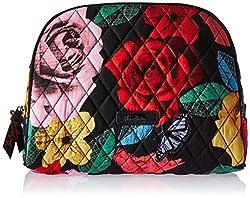 Vera Bradley Large Zip Cosmetic, Havana Rose