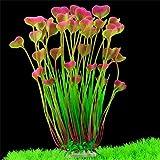 BZLine Aquarium Dekoration Fisch Flasche grün Graspflanze Pflanzen Wasser plant (A)