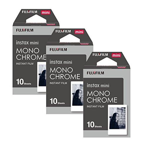 Fujifilm 16531958 Instax 3x10 Film Mini Kamera, Monochrome WW1 schwarz/weiß