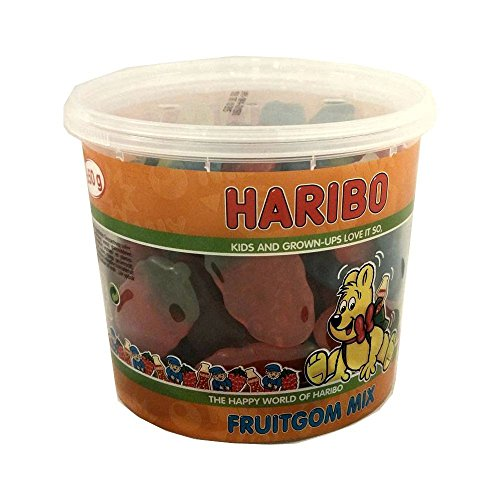 Haribo Fruitgom Mix 650g Runddose IMPORT (Fruchtgummi Mischung)