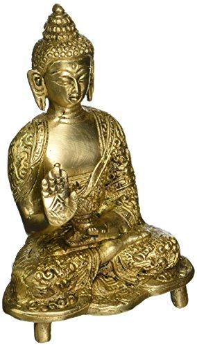 ShalinIndia Estatua de Buda meditante de latón