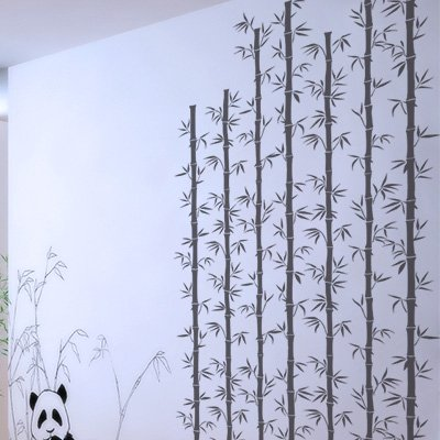 Stencil Wand Baum 008 Bambu. Ungefähre Maße: Aussenmaß des Stencil: 50 x 50 (cm) Maßnahme des Design: 48 x 48 (cm)