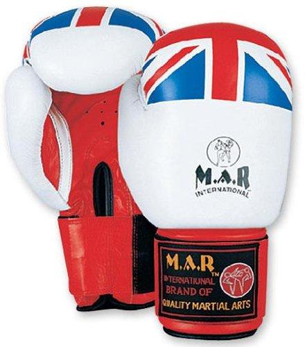 Head Box In The Jack (M.A.R International Ltd Boxhandschuhe Kickboxen Thai Boxing MMA Muay Thai Union Jack, weiß / blau / rot)