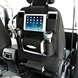 YOOSUN Auto Organizer Rückseite Sitz Rückenlehnenschutz Auto Rücksitz-Organizer für Kinder mit Tablet Halterung mit Kick Matte und Sitz cover-double -(1 Pack)
