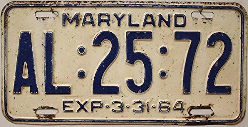 Preisvergleich Produktbild US Nummernschild MARYLAND Kennzeichen # USA License Plate # Auto - Schild