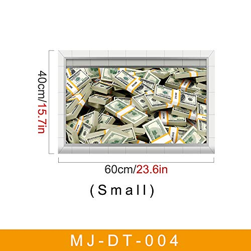 3D-Twill-Aufkleber Us-Dollar Rechnungen Küche Balkon Bad Anti-Rutsch-Anti-Rutsch-Aufkleber 40 * 60Cm (Silber-dollar-fisch)