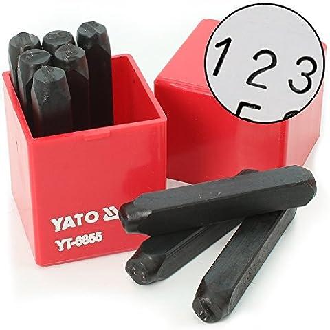 Schlagzahlen Stempel 8 mm 9 teilig YT-6855
