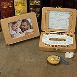 Webla Salvadanaio a forma di scatola di legno per dentiera salvadanaio per bimbi salvadanaio