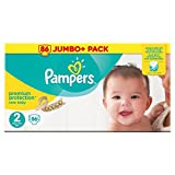 Pampers New Baby Size 2, 86nappies Jumbo + Pack