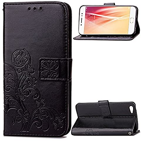 Vivo X7 Hülle, BONROY® Granatapfel-Muster-Holster Premium-PU-Leder Mappen-Kasten Wallet Schale Magnet Silikon Back Cover Etui Standfunktion (12 Jack Daniels Carbone)