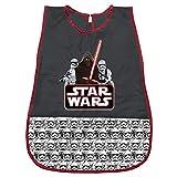 Star Wars Kittel für Kinder - PVC Schürze Wasserdicht und Frontalfach von Krieg der Sterne - Ideal als Schutz für Kinderkleidung - 3 bis 5 Jahre - Schwarz - Perletti