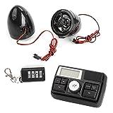 Rupse Motorrad Audio Lautsprecher Fm Radio mit Fernbedienung Alarm Soundsystem MP3 Player USB port Unterstützt SD Card Aux(3,5 mm)