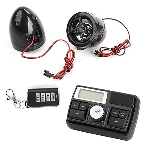 Rupse Motorrad Audio Lautsprecher Fm Radio mit Fernbedienung Alarm Soundsystem MP3 Player USB port Unterstützt SD Card Aux(3,5