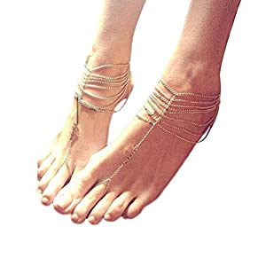 PIXNOR Quaste Stil Fußkette Kette Strand barfuß Sandal Foot Schmuck