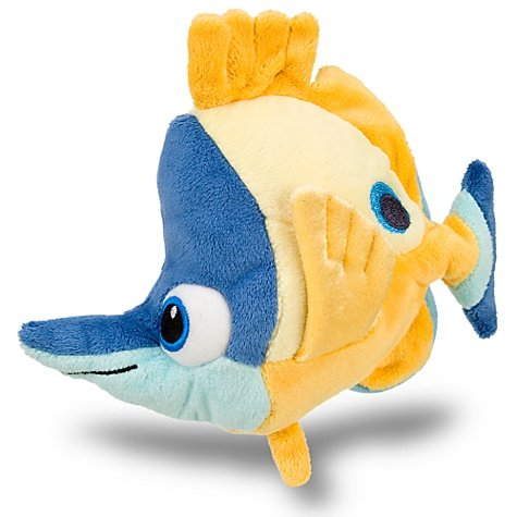 Disney, Finding Nemo Tad Mini Bean Bag Plush soft fish doll toy -- 6