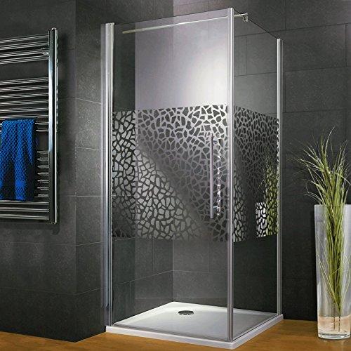 Duschkabine Dusche 90x90 Eckeinstieg Duschabtrennung Glas (ESG) Schulte