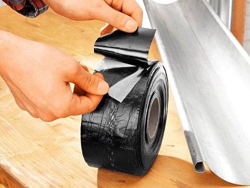 MEM MEMEASY SOS REPARATURBAND selbstklebende Bitumenband 10m x 7,5cm schwarz Abdichtung