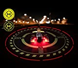 Fonrest Aire d'Atterrissage de LED, Diamètre 70cm Imperméable Pliable Double face Lumineux Nuit Tablier pour RC Quadcopter, Hélicoptère, DJI Mavic Pro Phantom 2/3/4/Pro Spark et plus