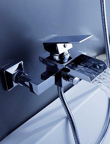 KISSRAIN® Vasca da bagno rubinetto - Contemporanea - Cascata - Ottone (2 2.5 Ascensore)