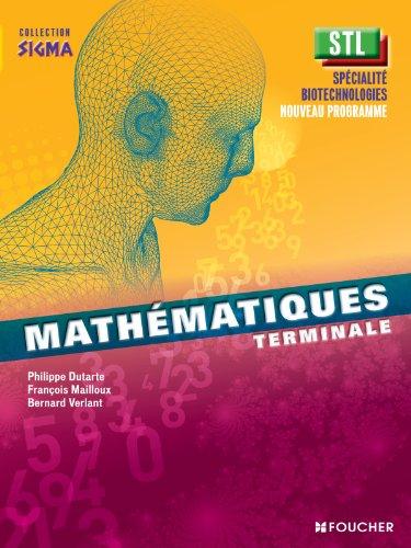 Sigma Mathématiques Tle Bac STL