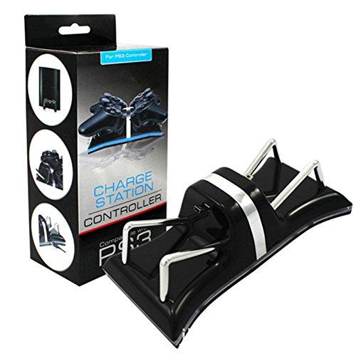 ZYQHY 1. Blu-Ray Griff Zweisitzer USB Ladegerät–autotelefonhalter Sony Playstation für PS3
