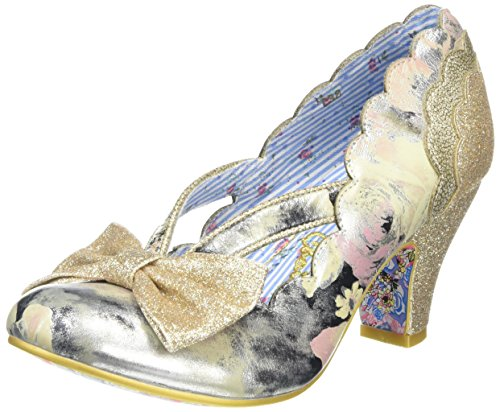 Irregular Choice - Stage Left, Scarpe col tacco Donna Gold (Cream/Gold)