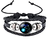 Caimeytie Kind Armschmuck Leder Wickelarmbänder Verstellbar Horoskop Sternzeichen Stier