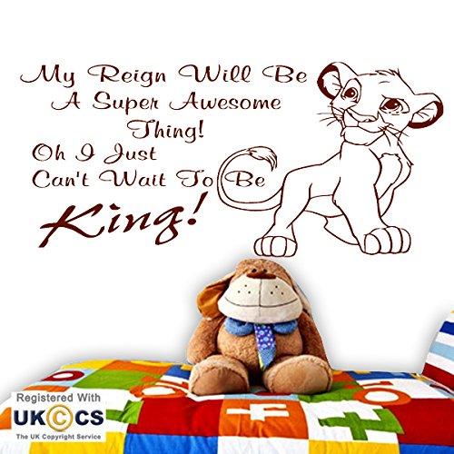 Lion Simba kühlen König nette Kinder Baby-Kinderzimmer-Wand-Kunst-Aufkleber-Abziehbild-Vinyl Raum Schlafzimmer Jungen Mädchen Kinder Erwachsene Heim Zitate Küche Badezimmer Wandaufkleber (Erwachsenen-schlafzimmer-wand-abziehbilder)