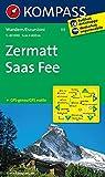 Zermatt - Saas Fee: Wanderkarte GPS-genau. 1:40000 (KOMPASS-Wanderkarten, Band 117)