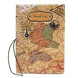 Fengh Portable PU copertura della mappa del mondo passaporto copertura pacchetto ticket Travel bag New