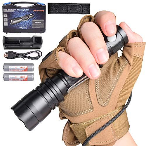Odepro B108 LED Taktische Taschenlampe IP68 Wiederaufladbar Handlampe für gehende Hundeschutzwachen