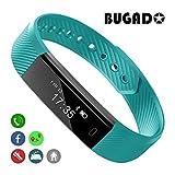 Fitness-Tracker-Armband, Schrittzähler zum Spazieren, Schlaf-Monitor, Kalorienzähler, Uhr, OLED-Touchscreen, wasserdicht, Sport-Armband, verbessern Sie Ihre Gesundheit und Motivation, hilft Gewicht zu verlieren, für Männer und Frauen, iOS und Android, Herren, grün