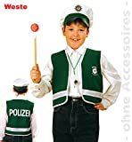 pibivibi Polizei-Set, bestehend aus Polizei-Weste und Polizei-Mütze, Spielweste Polizist, Mütze Polizist, Exclusiv (116)
