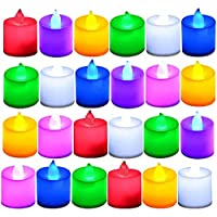 CITRA Battery Color Changing Tea Lights, Flameless diyas Colorful LED Tealights, Multi Color Flashing Candles Light for…