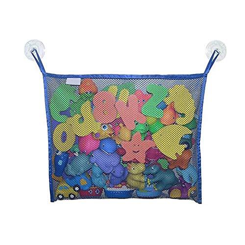 z-Organizer für Badutensilien, Aufbewahrungsfächer, multifunktional, langlebiges Design, Badewannen-Spielzeughalter, Blau ()