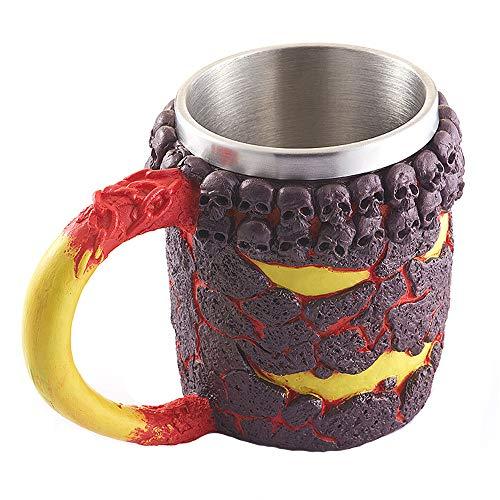 3D Kaffeetasse Harzkrug Viking Skull Double Wall ()