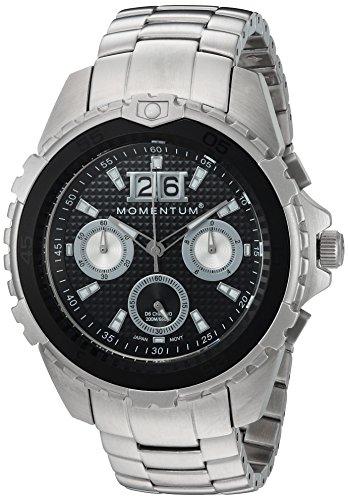 Momentum Men's 'D6 Chrono' Quartz Stainless Steel Diving Watch, Color:Grey (Model: 1M-DV22B0)